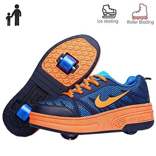 nnn meisjes jongens skateboard schoenen met 1 wieltjes/2 wieltjes, kinderschoenen met wieltjes, skateboardschoenen, loopschoenen, sneakers voor unisex kinderen