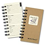 "Journals Unlimited 'Write it Down!' Series Guided Journal, Online Accounts, My Password Journal, with a Kraft Hard Cover, Made of Recycled Materials, 3.5""x8.5"""