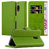 Cadorabo Hülle für Nokia 6 2017 in Gras GRÜN – Handyhülle mit Magnetverschluss, Standfunktion & Kartenfach – Hülle Cover Schutzhülle Etui Tasche Book Klapp Style