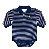 Two Feet Ahead NCAA Notre Dame Fighting Irish Infant Boys Long Sleeve Stripe Golf Creeper, 6 Months, Navy