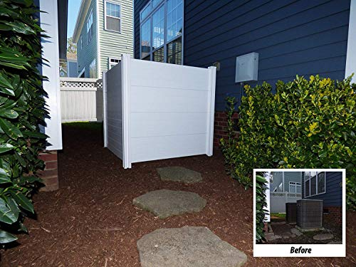 10 Outdoor Garbage Can Storage Ideas for Your Backyard: White Mac Outdoor Garbage Can Enclosures