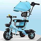 Kinderkraft Dreirad Aveo Trike Kinderwagen Buggy für Kinder mit Drehsitz Sonnenschutz Abnehmbare...