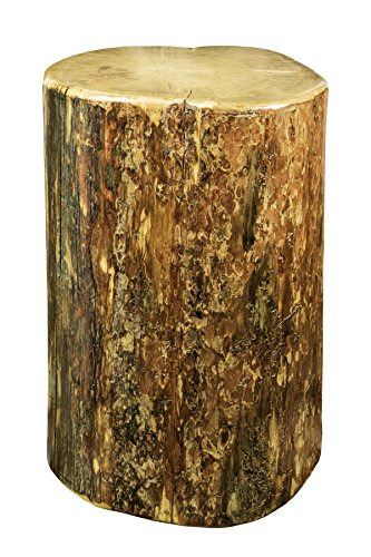 Montana Woodworks Glacier Country Collection Cowboy Stump, 25 Inches High Occasional Table