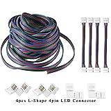 AREOUT 39.3ft/12M 4Pin RGB Cavo di Prolunga Linea Connettore Cavo per 5050 3528 RGB LED St...