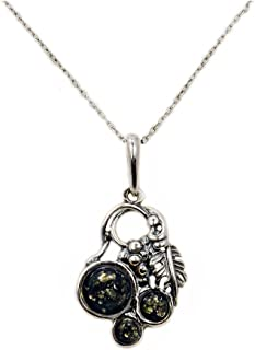 Best green amber pendant silver Reviews