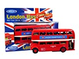 London De Luxe Double Decker Red Bus Model Made of Die Cast Metal and Plastic Parts by Diecast models