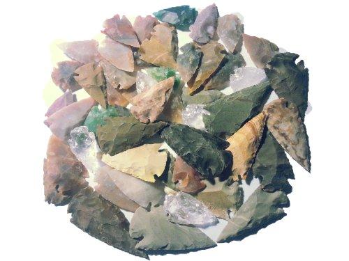 50 mittelgroße Pfeilspitzen 3,5 bis 6,5cm Steinzeit Nachbau