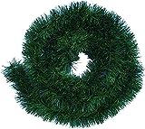 Handel24NET Excellente 10m. Guirnalda de decoración artificial en abeto verde. Se usa de manera flexible en interiores y exteriores. Esta guirnalda de abeto deleita a toda la familia.