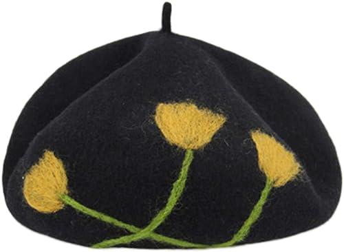 Unbekannt Hüte Malerhutkürbishutbarettknospen-L hut England des Weißichen Herbstes und des Winters des Hutes Weißicher Malerhut Weißicher (Farbe   Beige, Größe   5cm)