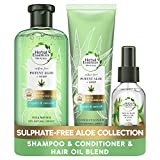 Herbal Essences Bio Renew Aloe and Hemp Sulphate Free Shampoo, Hair Conditioner and Hair Oil Set,...