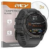 3X Protector de Pantalla para Garmin Fenix 6 - Garmin Fenix 6 Pro 47mm, Cristal Vidrio Templado Premium Reloj SmartWatch