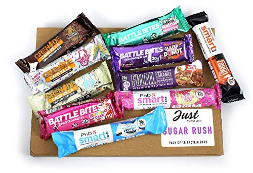 Sugar Rush - Selection of The Most Loved Protein Bars from; Grenade, PhD, Fulfil & Battle Bites