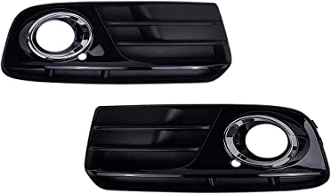 Runmade Pair of Glossy ABS Black Front Bumper Lower Fog Grill Grilles Insert for 2013-2015 Audi Q5 (Driver & Passenger Side, Pack of 2)