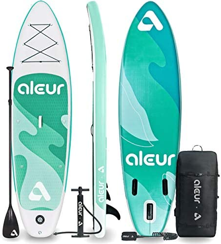 aleur 2020 Explorer Inflatable Stand Up Paddle Board Package W Premium SUP Accessories Backpack product image