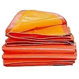 Lona alquitranada Lona Impermeable Resistente - Hoja de Lona Amarilla/Naranja - Cubierta Hecha de 160 Gramos/Metro Cuadrado (Tamaño : 6m×12m)