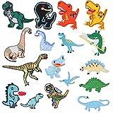 Nesloonp - Parches para planchar de dinosaurio, 17 piezas, parches para niños, juego de reparación, parche bordado para coser animales, accesorio de bricolaje, decoración de tamaños variados para ropa