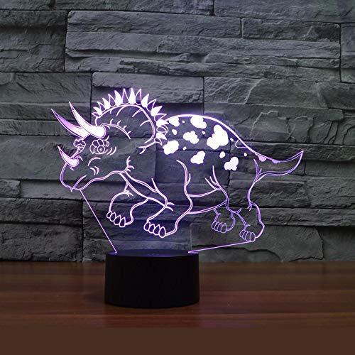 Acryl 3d Lampe mit Dinosaurier neue Luminaria De Mesa 3d Lampen Luminaria Led 3d Licht Halloween Geschenk Tischlampen für Kinder