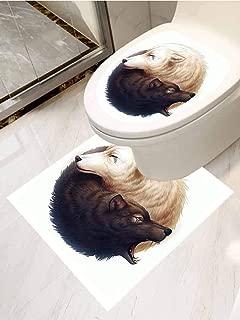 ThinkingPower Mermaid Decor Toilet Seat Tattoo Cover Sleeping Mermaid Design with Hand Drawn Effect Vinyl Bathroom Decor W12XL14 INCH