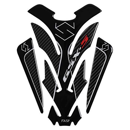 Interesante Etiqueta engomada del tanque de combustible 5D Fibra de carbono real Motocicleta Pad Pegatina Etiqueta Emblema de la calcomanía para GSX SV GSF BANDIT DL VL SFV 400 600 650 750 750 Elegant