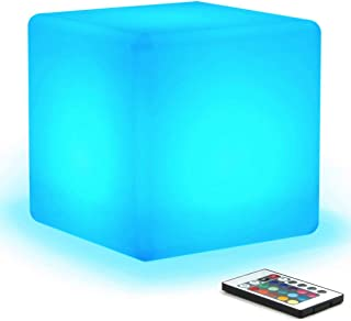 [16 RGB Colors 4 Modes] Mr.Go Waterproof Rechargeable LED Color-changing Light Cube 8