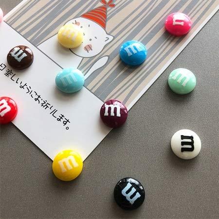 Ltjqsm 5/10 / 15pcs Candy Color Colorido Imanes Frigoríficos Foto Lindo Recuerdo Regalos Inicio Refrigeradores Decoración Pegatina Magnética Papelería Juguete (Color : 10 Pcs Random)