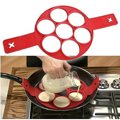 Silikon Crêpière Nonstick Kochen Werkzeug Ei Ring Maker Pfannkuchen Flip-Ei-Form Käse Eierkocher Küche Gadget