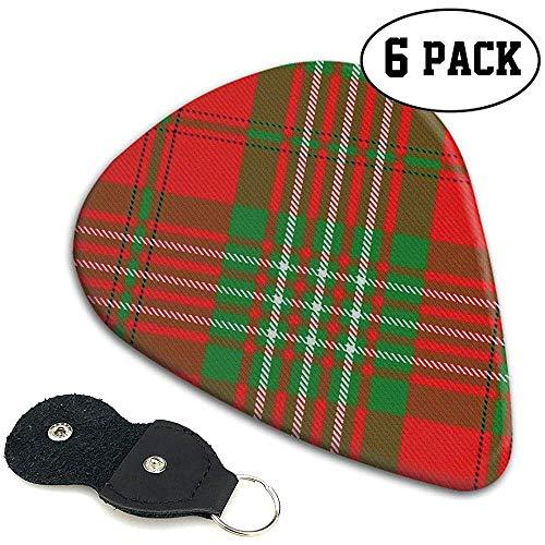 Scots Style Clan Scott Tartan Plaid Guitar Picks 6 Pack para celuloide...