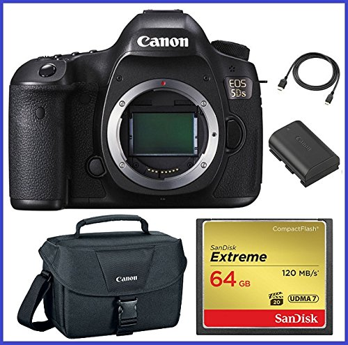Best Bargain Canon EOS 5DS DSLR Camera (Body Only) 64GB Pro Bundle