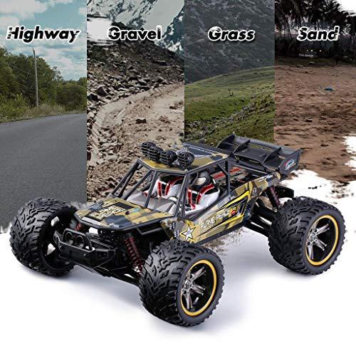 RC Auto kaufen Truggy Bild 2: GPTOYS Ferngesteuertes Fahrzeug RC Autos 1:12 Skala 2WD 2.4 GHz 26+MPH Halb-Wasserdicht Monstertruck Geländewagen --- Geschenk für Kinder*