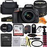Nikon D5600 DSLR Camera 24.2MP with NIKKOR 18-55mm f/3.5-5.6G VR Lens, SanDisk 32GB Memory Card, Case, Tripod and ZeeTech Accessory Bundle (Black)