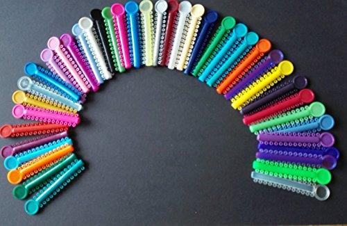 1040 STK dental latex elastics ligature ties,Zahnärztliche Gummiring Kieferorthopädische Elastische Ligaturen/Ligatur Krawatte,mischfarbe/mixed color)