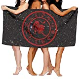 NDJHEH Strandtücher Handtücher Leo Constellation 100% Polyester Velvet Absorbent Bath Towel 31 X 51 inches