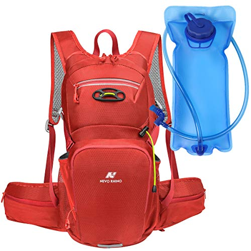 N NEVO RHINO Insulated Hydration Backpack Pack with 2/3L Water Bladder Leakproof, Camelback Water Backpack for Hiking/Running/Cycling/Camping/Climbing