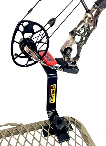 Bow Buddy Bow Hanger | Hang-On Buddy Treestand Bow Holder Removable with Rubber Grip Compound Bow Holder for Archery Hunting (Hi Profile)