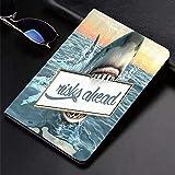 Funda para iPad (24.638cm, modelo 2018/2017, 6.a / 5.a generación) Funda inteligente ultradelgada y liviana, artístico Great Shark Sea ations Citas divertidas Animales del océano Accesorios de miedo p