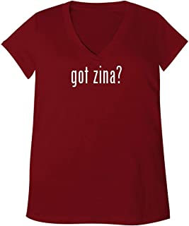 got Zina? - Adult Bella + Canvas B6035 Women`s V-Neck T-Shirt