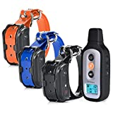 PetSpy XPro 3 Dog Training Shock Collar for Three Dogs with Remote, Fully Waterproof Vibra...