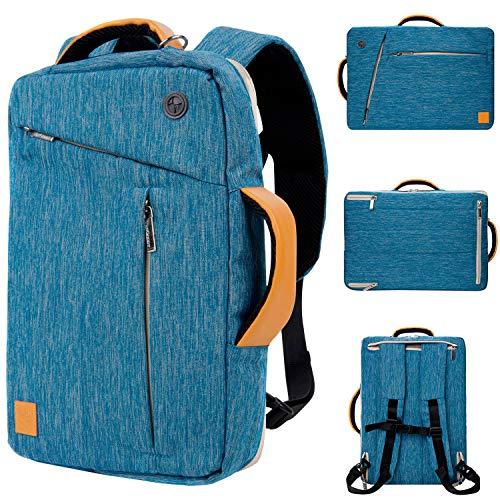 12 12.9 Inch Business Travel Briefcase Water Resistant Multi Purpose Laptop Bag Messenger Shoulder Bag Hybrid Backpack for Men Women, Work Travel School Case Bag