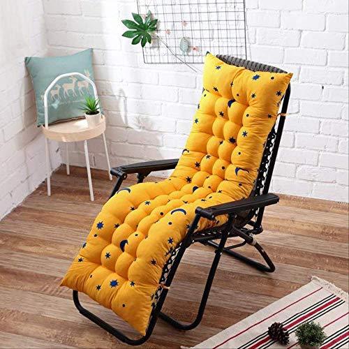 NoNo Lang kussen ligstoelen opvouwbaar dikke stoel kussen tuin stoel kussen raam vloer mat dubbelzijdig tatami mat 48x155cm geel