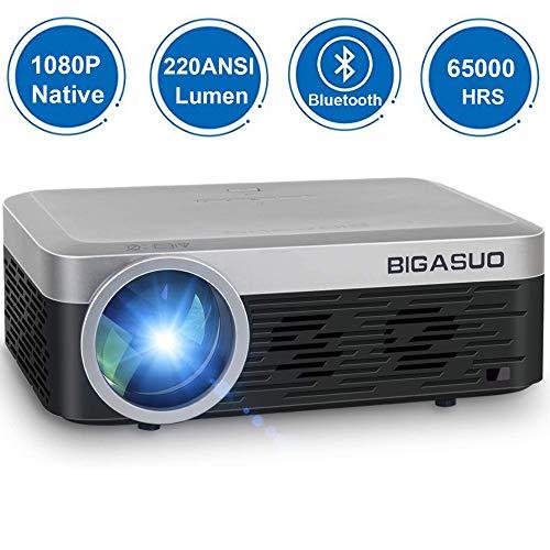 Mini Vidéoprojecteur 1080P Full HD Projecteur Bluetooth , BIGASUO...