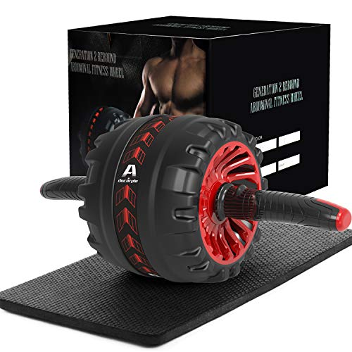 Ab Roller for Abs Workout, Ab Roller Wheel Exercise Equipment for Core Workout with Knee Mat, Ab Workout for Home Gym Exercise Equipment for Men Women