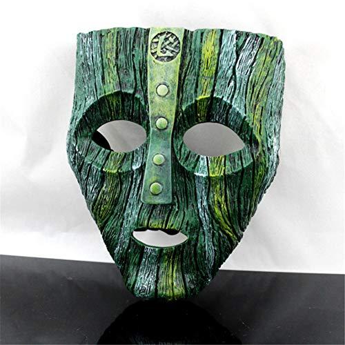 GFDGFDG Cameron Diaz Loki Halloween-Harzmasken Jim Carrey Venezianische Maske Der Gott des Unfugs Maskerade Replik Cosplay Partyzubehör, Requisiten, Geschenk,Grün