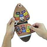 Guitar Picks Holder with 20pcs - Acoustic Electric Guitar Picks Variety Pack Mixed Thickness Picks 0.58mm 0.71mm 0.81mm 1.2mm, 1.5mm Guitar Plectrums Bag Case Gift for Guitarist