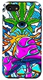 iPhone SE (2020) / 7 / 8 Trippy Waves Magic Mushroom Weed Psychedelic Techno EDM Gift Case