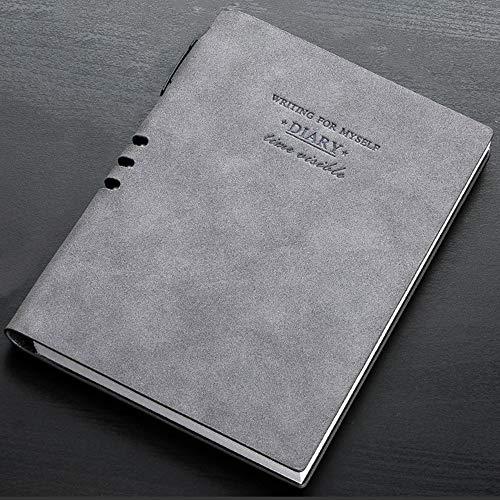 A5 notitieboeken, retro, loose-bladmuziek, notitieboek, creatief dagboek, eenvoudige vergadering, notitieboek, kantoorbenodigdheden grijs