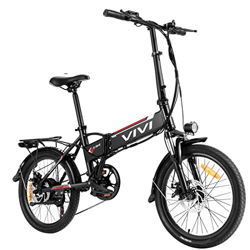 Vivi Folding Electric Bike, 20'' Electric Commuter Bike with 36V 8Ah Removable Lithium-ion Battery, 350W Motor and Professional 7 Speed Gear