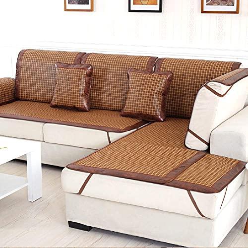 Alfombrilla de bambú para sofá de ratán Funda de cojín para silla Colchoneta de enfriamiento de verano Colchoneta para dormir Colchoneta de aire acondicionado plegable Antideslizante Fundas universa