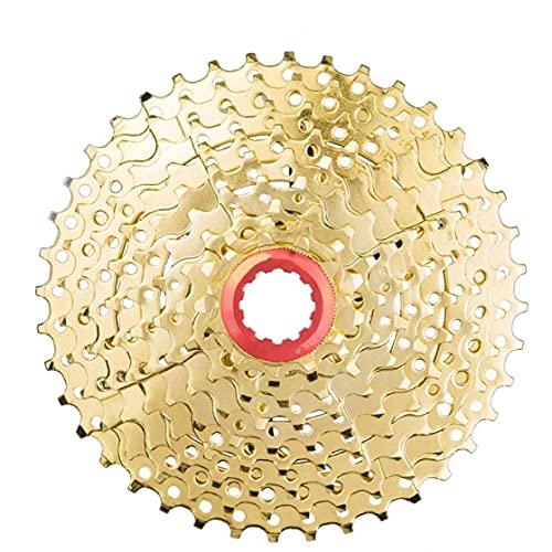 9 Speed ??Cassette 11-40T Amplia Relación de MTB Rueda Libre Piñón Pieza de la Bicicleta de montaña Bicicleta de Oro
