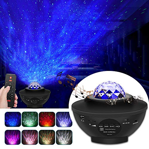 Khaleido - Galaxy Projector - Starry Sky Night Light - Projecteur LED Star, 10 Couleurs 360 ° Rotation - Skylight for Your Home - Idée Cadeau