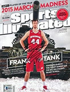 Frank Kaminsky Autographed Signed Sports Illustrated Si Wisconsin Basketball Beckett Bsa